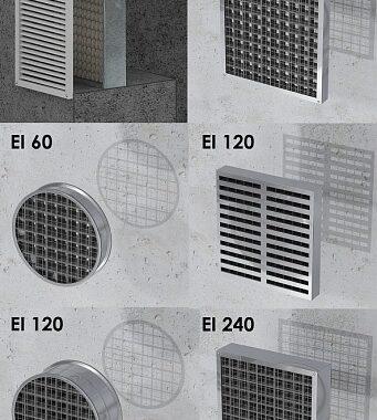 kratki pęczniejące do otworów wentylacyjnych zabezpieczające do ścian i stropów
